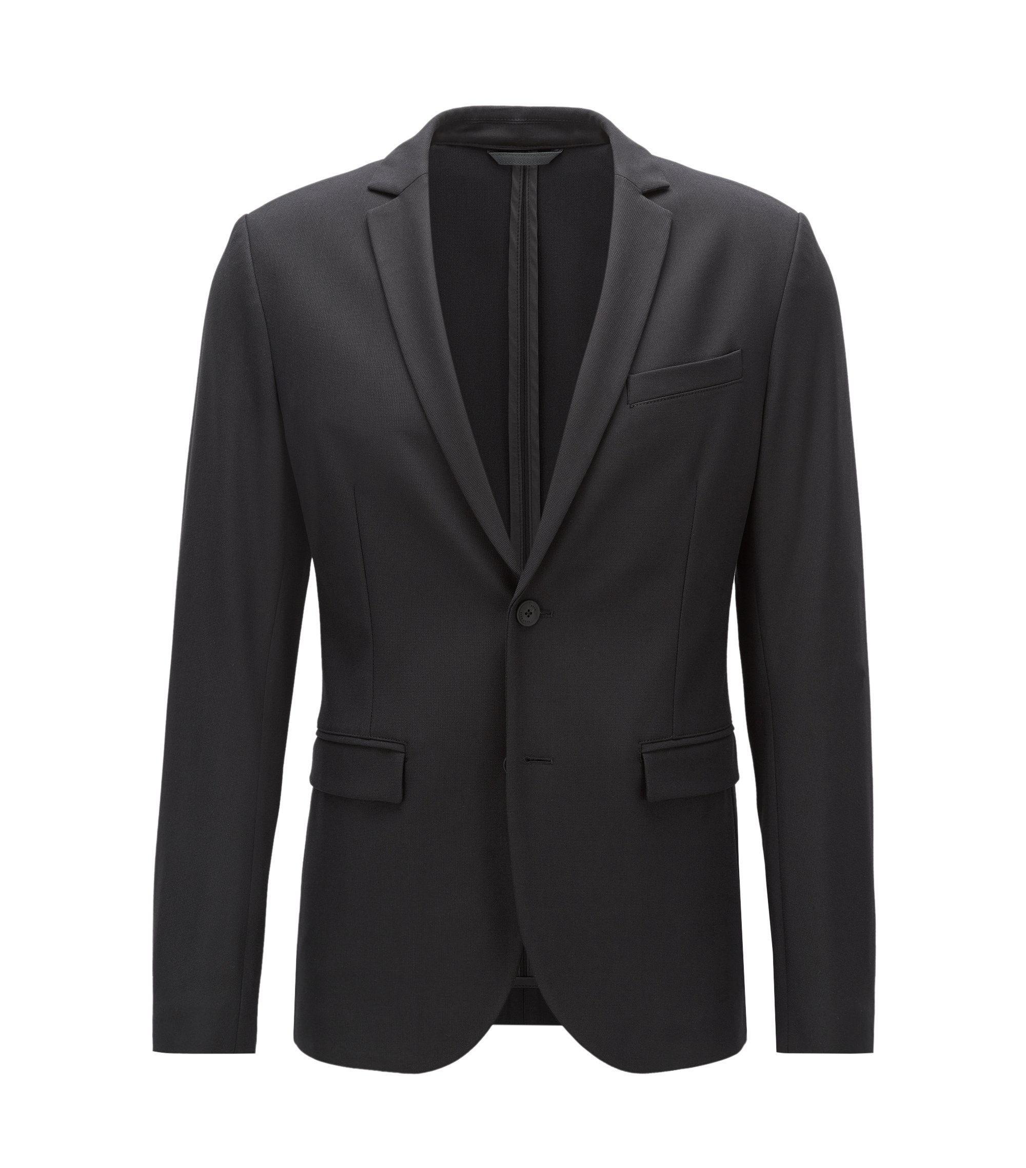 Stretch Sport Coat, Slim Fit | Amono, Black