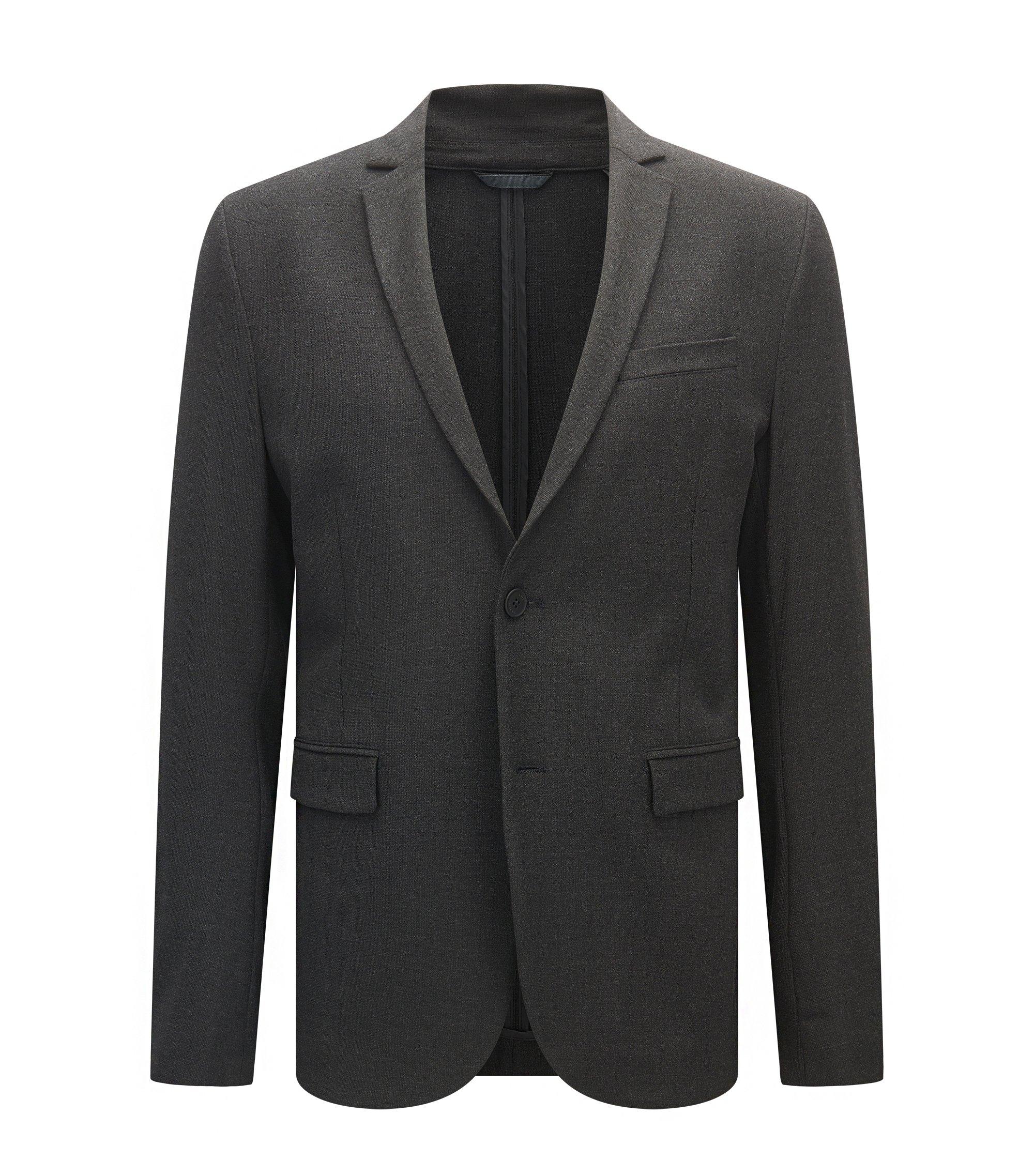 Stretch Sport Coat, Slim Fit   Amono, Charcoal