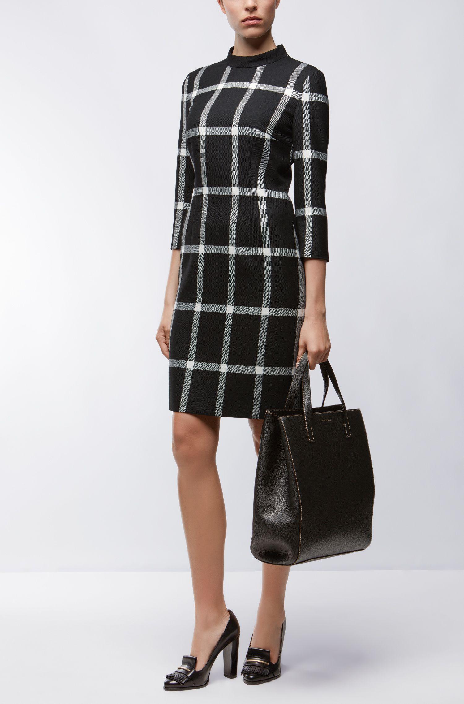 Checked Sheath Dress | Hadena