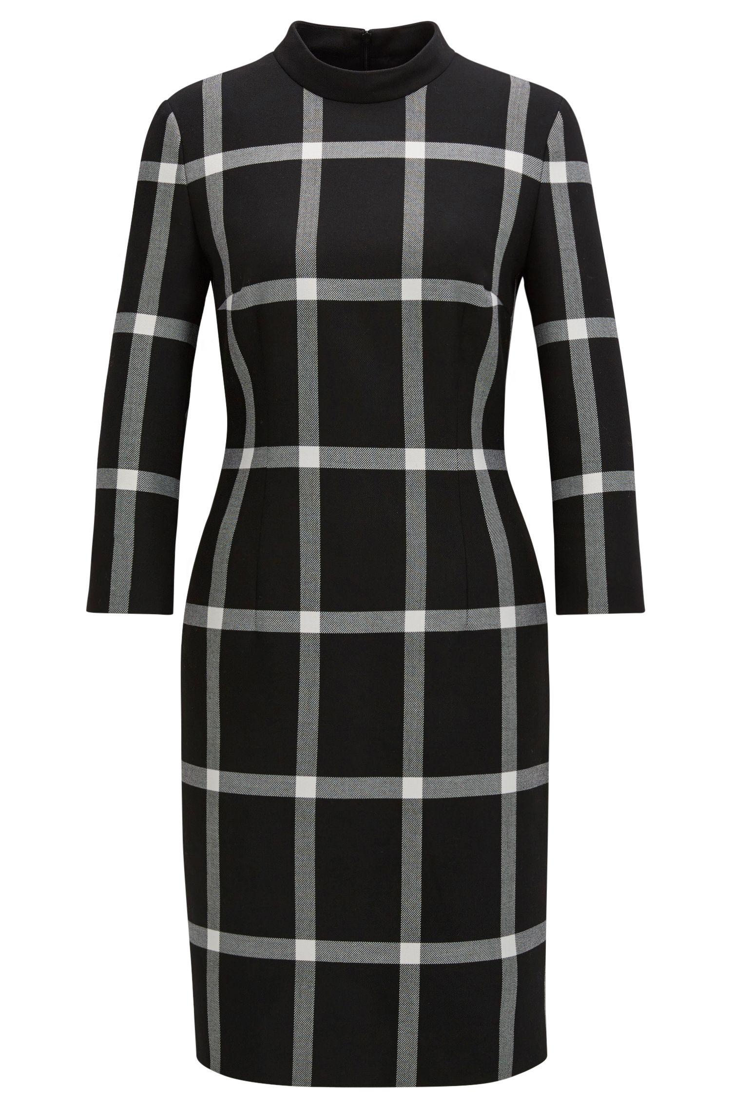 'Hadena' | Checked Sheath Dress