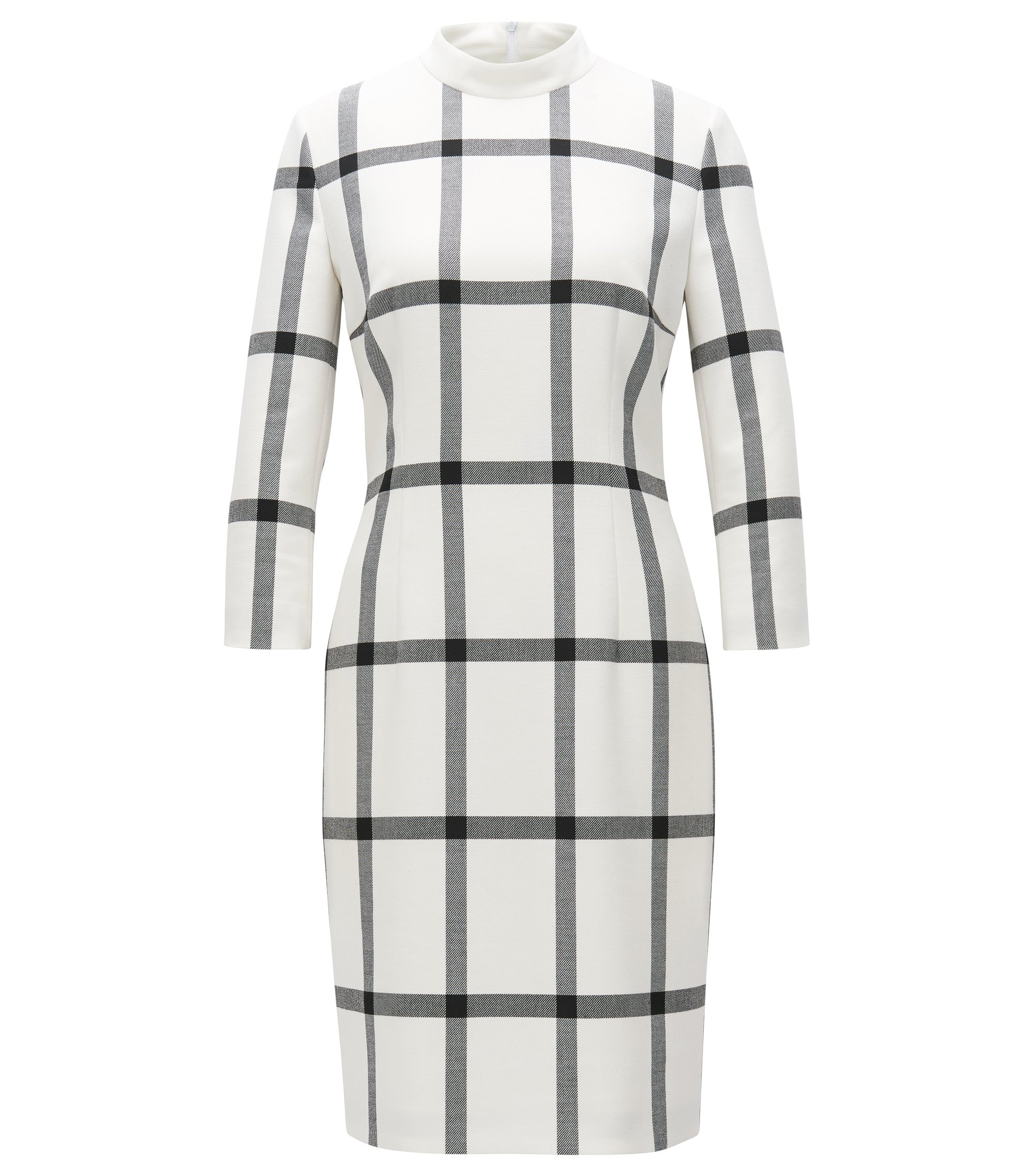 Checked Sheath Dress | Hadena, Patterned