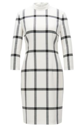 'Hadena' | Checked Sheath Dress, Patterned