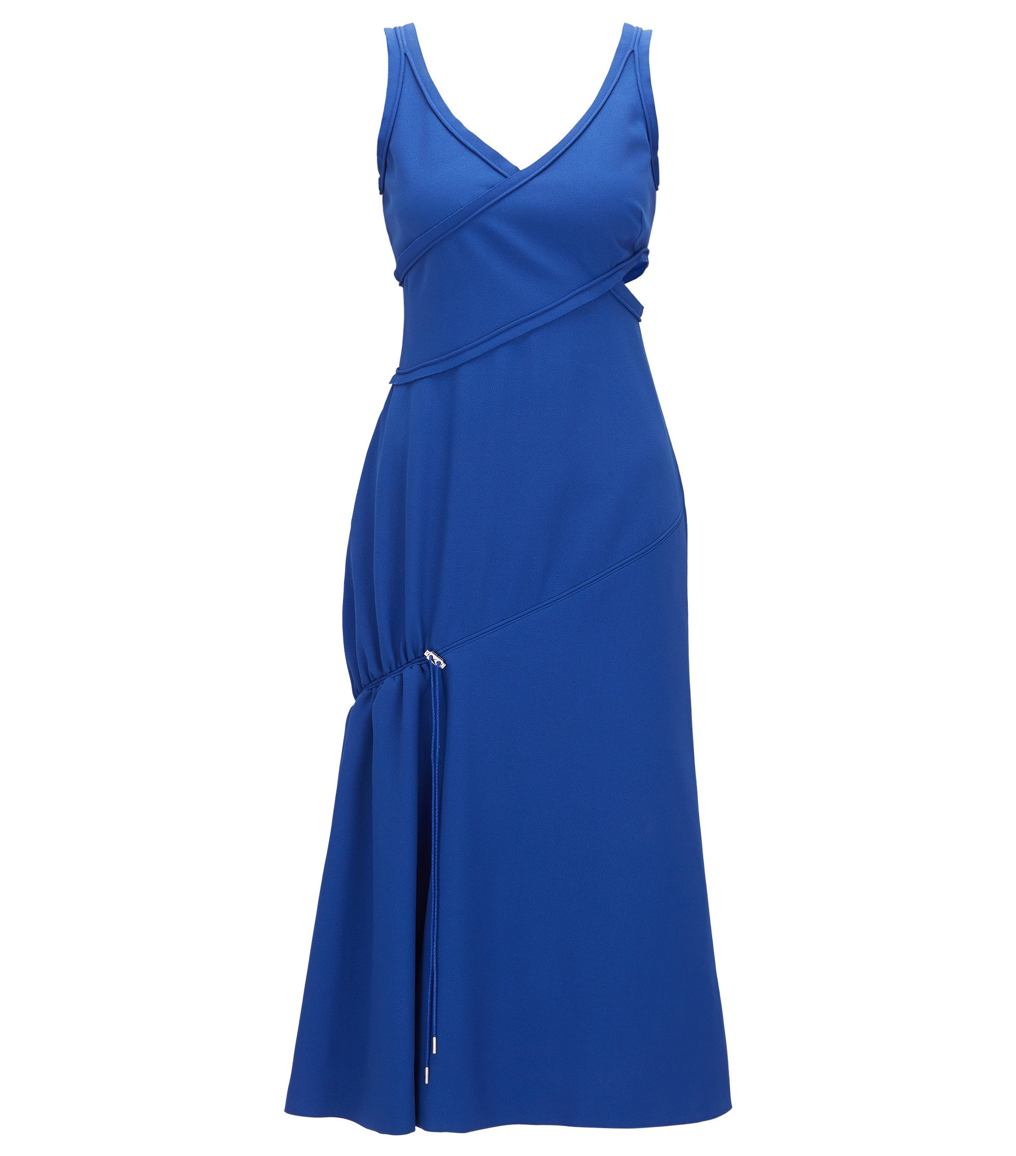 Crepe Cut-Out A-Line Dress | FS Demania C, Blue