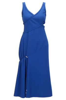 'FS Demania C' | Crepe Cut-Out A-Line Dress, Blue