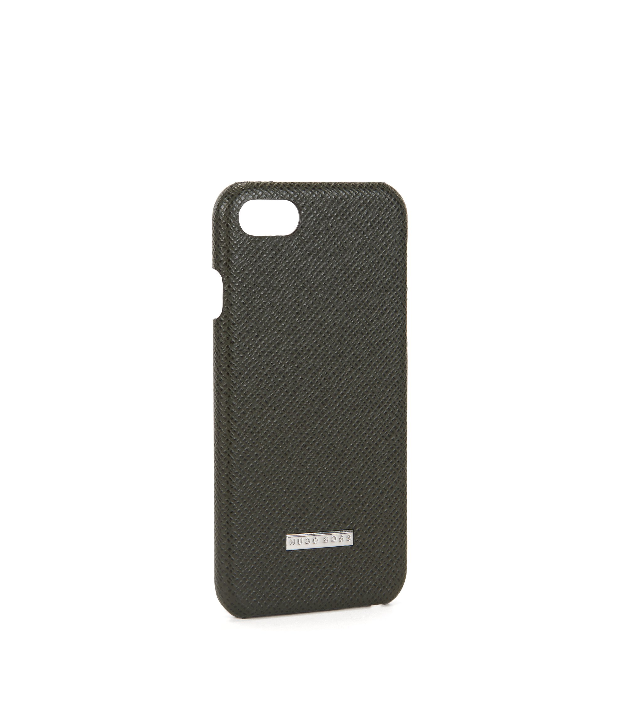 Embossed leather iPhone 7 Case | Signature Phone 7, Dark Green