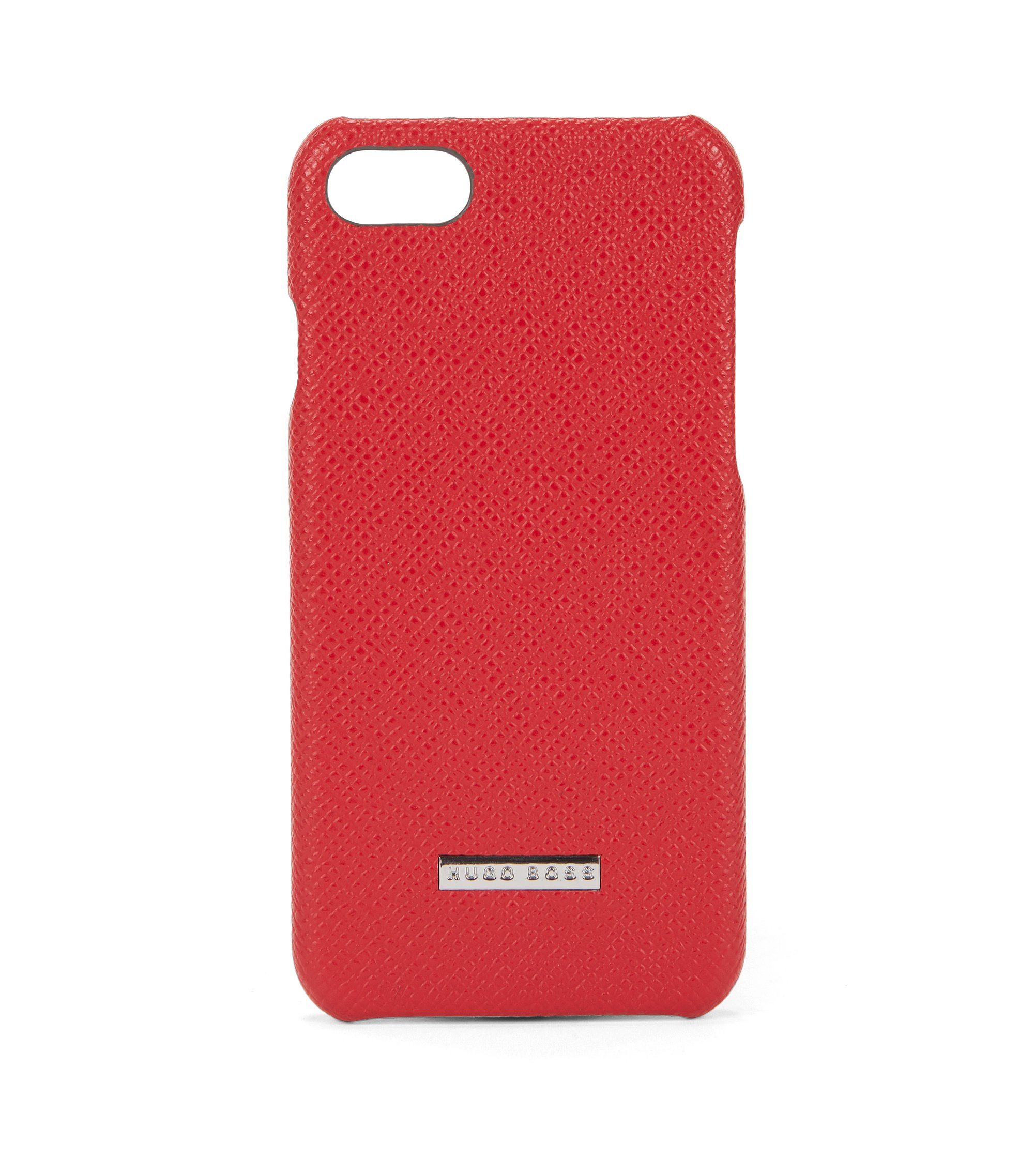 Embossed leather iPhone 7 Case | Signature Phone 7, Red