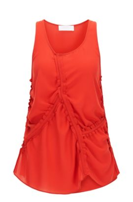 'FS Illina C' | Crepe Ruched Blouse, Red