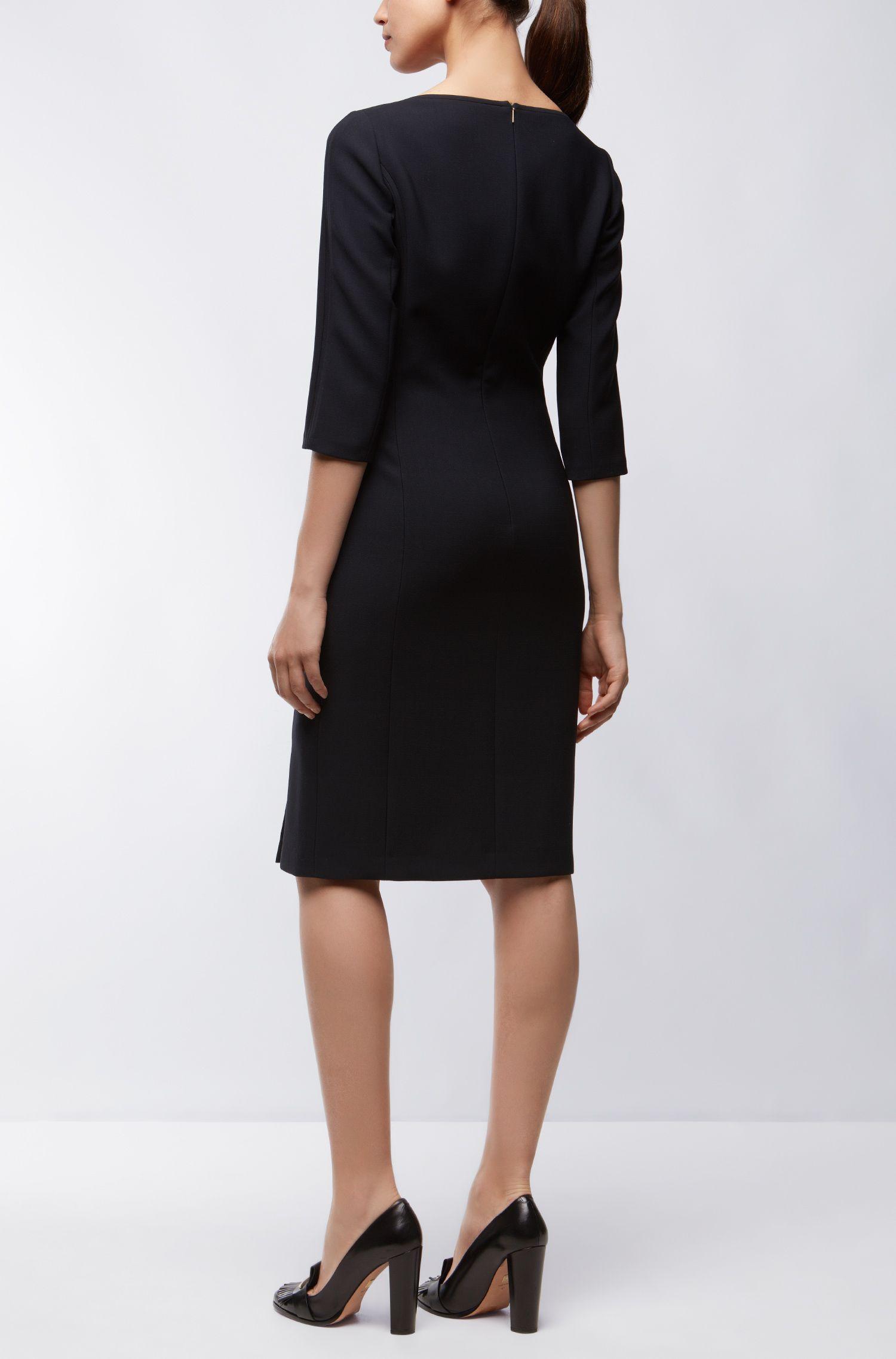 Virgin Wool Sheath Dress | Dikena