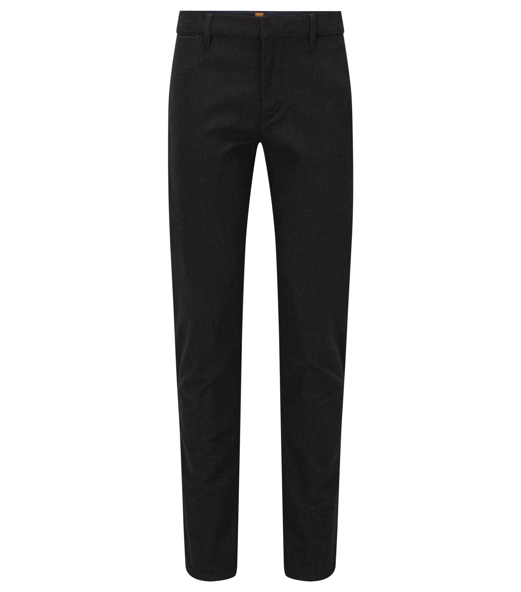 Stretch Cotton Pant, Slim Fit | Slim W, Black