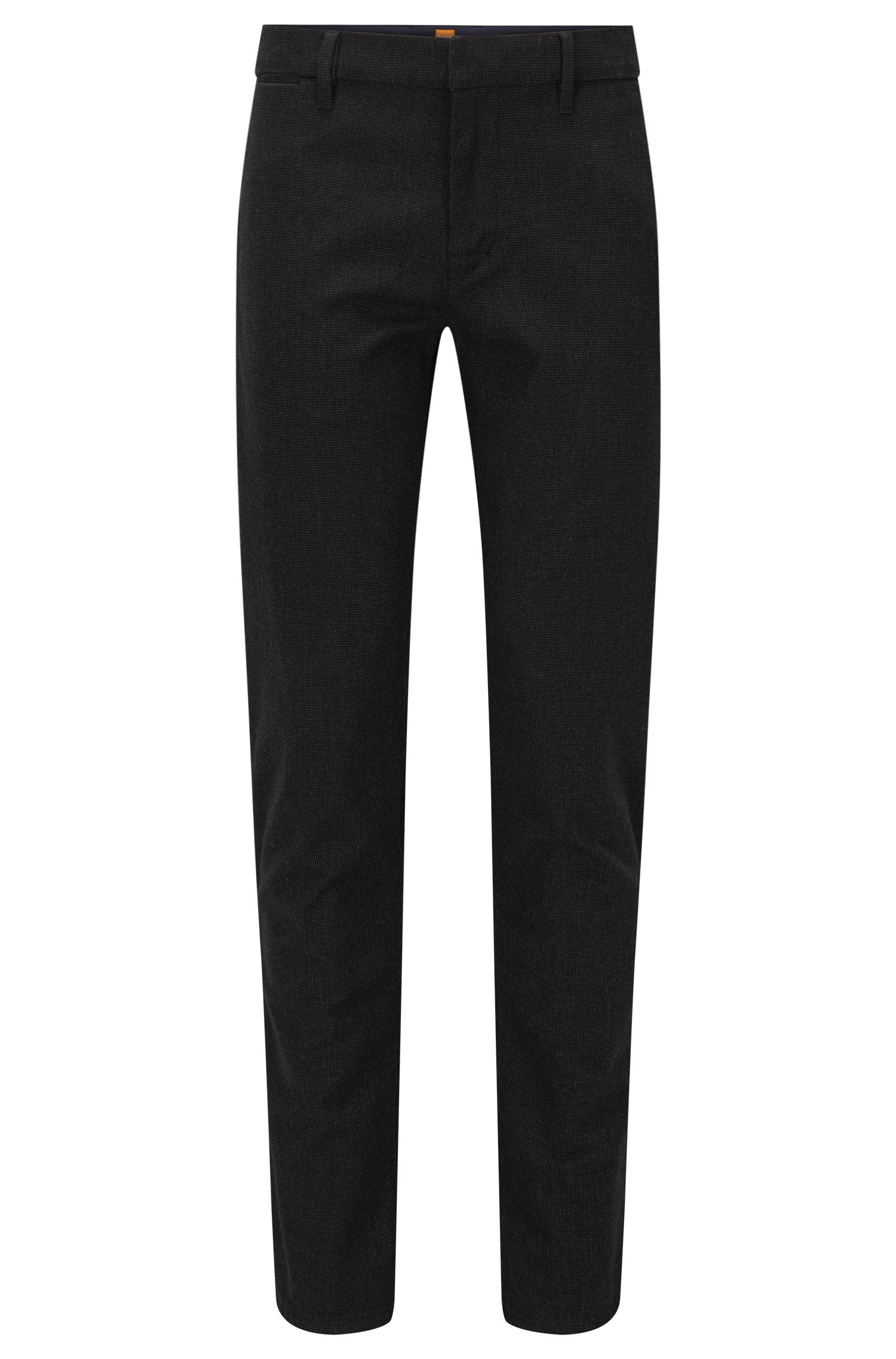 Stretch Cotton Pant, Slim Fit | Slim W, Black