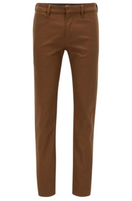 Stretch Cotton Pant, Slim Fit | Slim, Open Beige