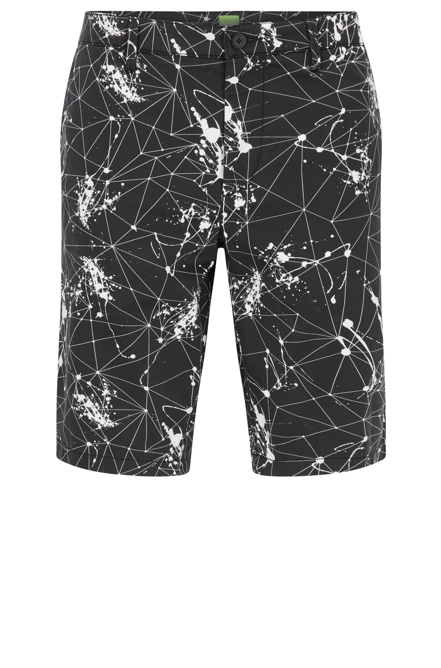 Printed Stretch Cotton Short | Liem Print W