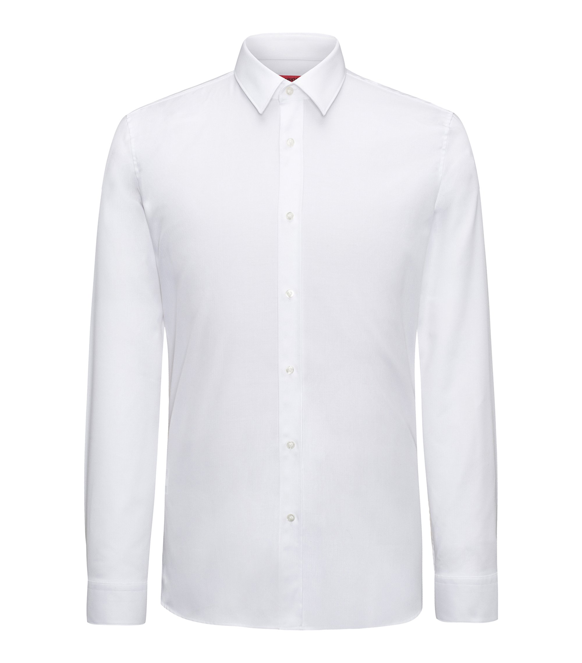 Herringbone Dress Shirt, Extra Slim Fit | Elisha, Open White