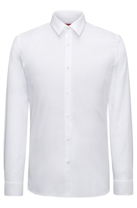 Hugo herringbone dress shirt extra slim fit elisha for Extra slim tuxedo shirt