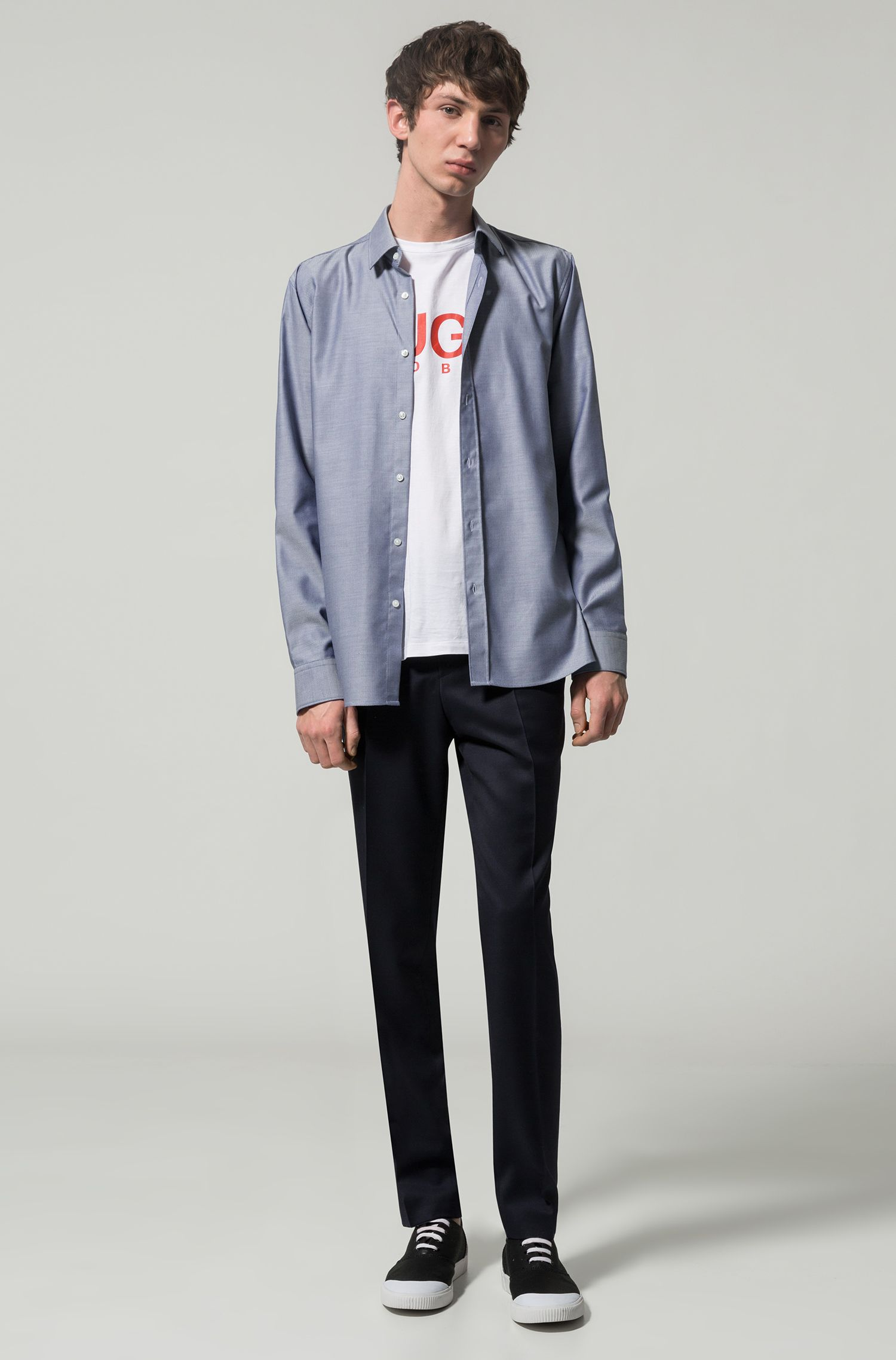 Herringbone Dress Shirt, Extra Slim Fit | Elisha