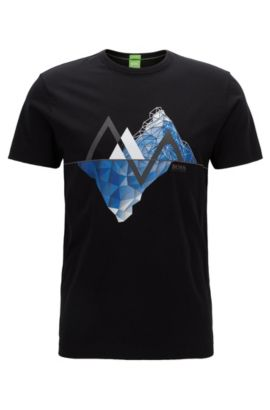 Cotton Graphic T-Shirt | Tee, Black