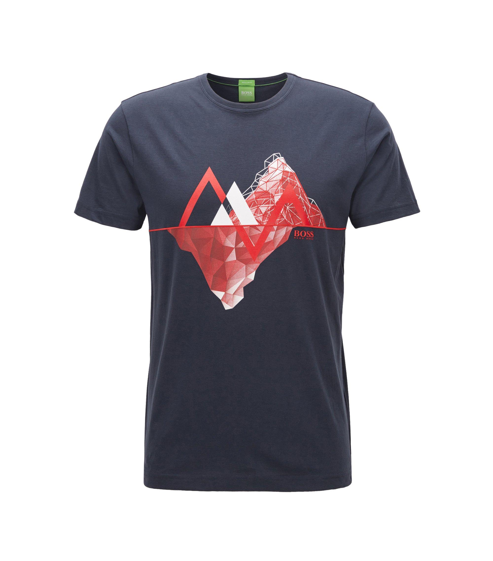 Cotton Graphic T-Shirt | Tee, Dark Blue