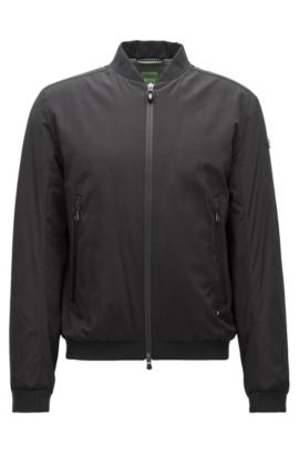 Nylon Bomber Jacket | Jomber, Black