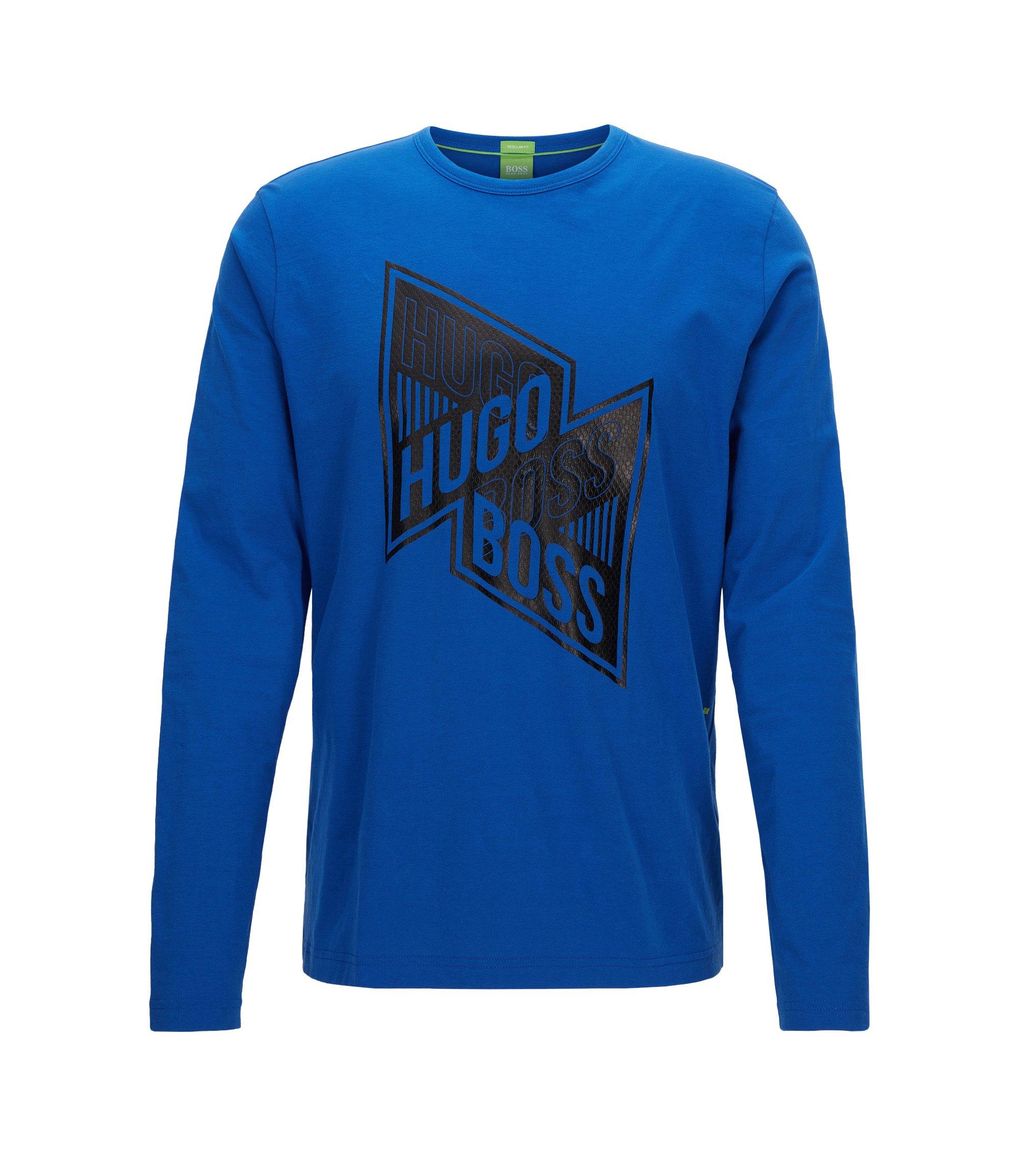 Stretch Cotton Graphic T-Shirt   Togn, Blue