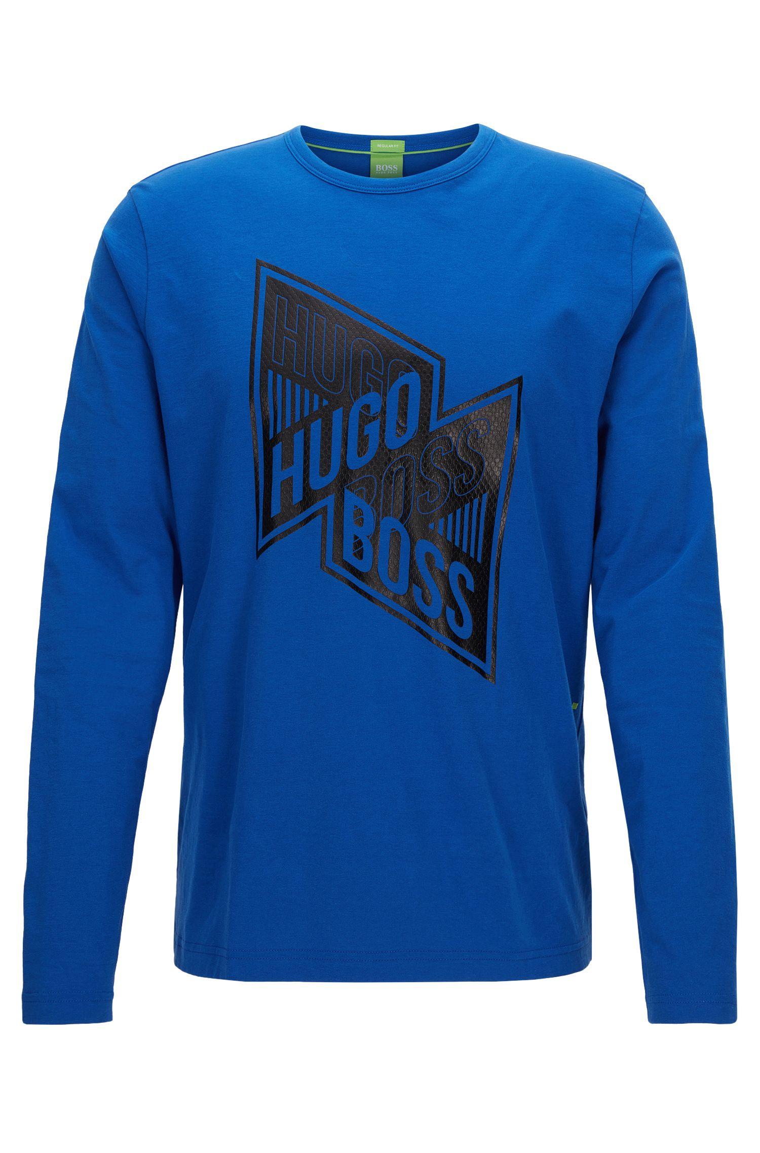 Stretch Cotton Graphic T-Shirt | Togn, Blue