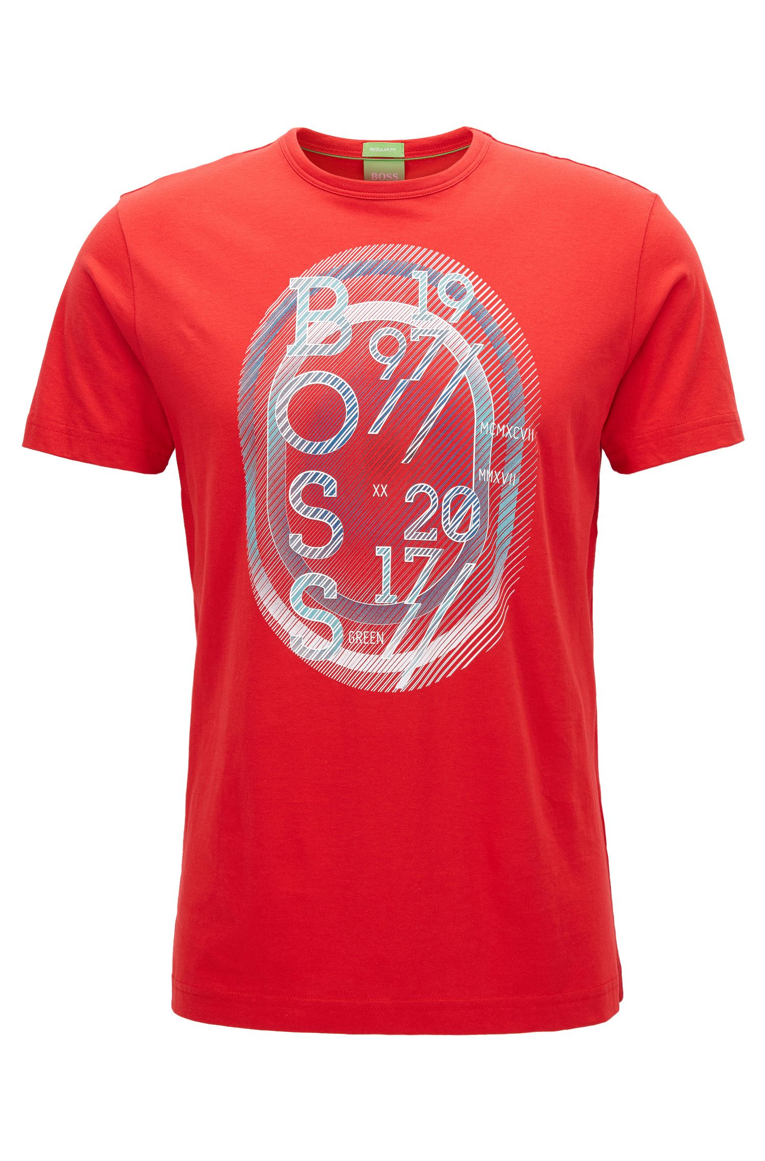 Stretch Cotton Graphic T-Shirt   Tee