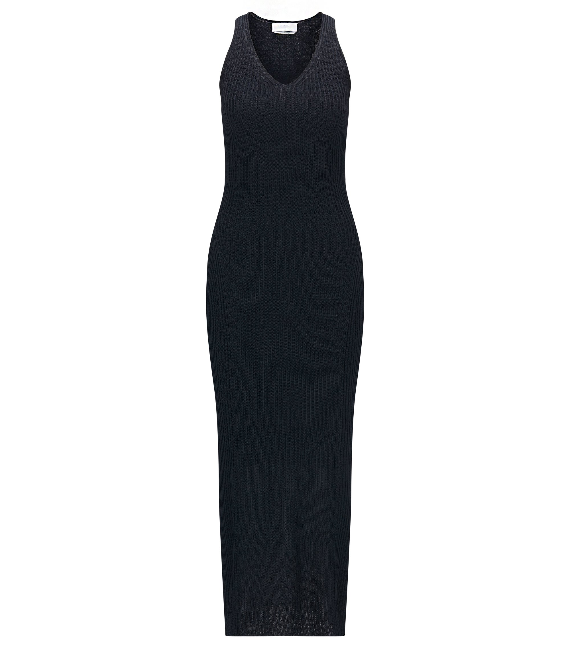 Ribbed Knit Sheath Dress | FS Firuza, Open Blue