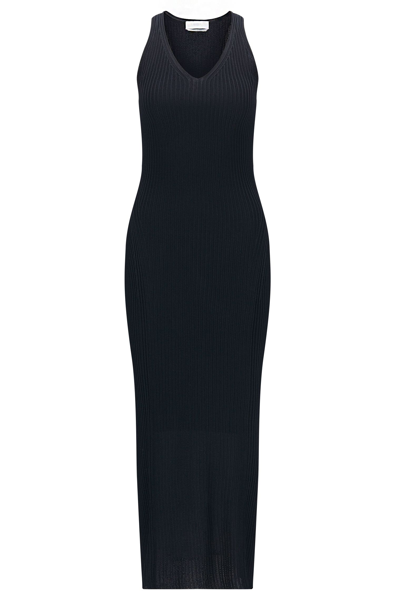 'FS_Firuza' | Ribbed Knit Sheath Dress