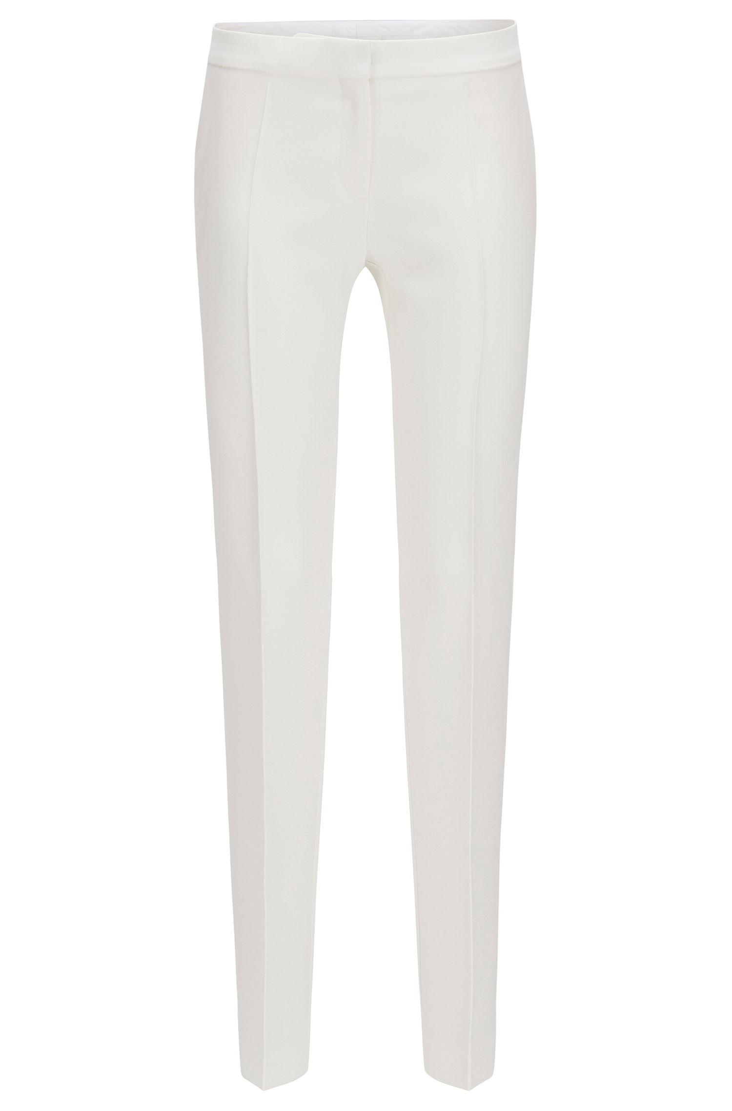 'FS Tilani C' | Bonded Crepe Trousers