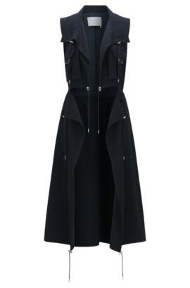 'FS Canymea C' | Crepe Utility Vest, Open Blue