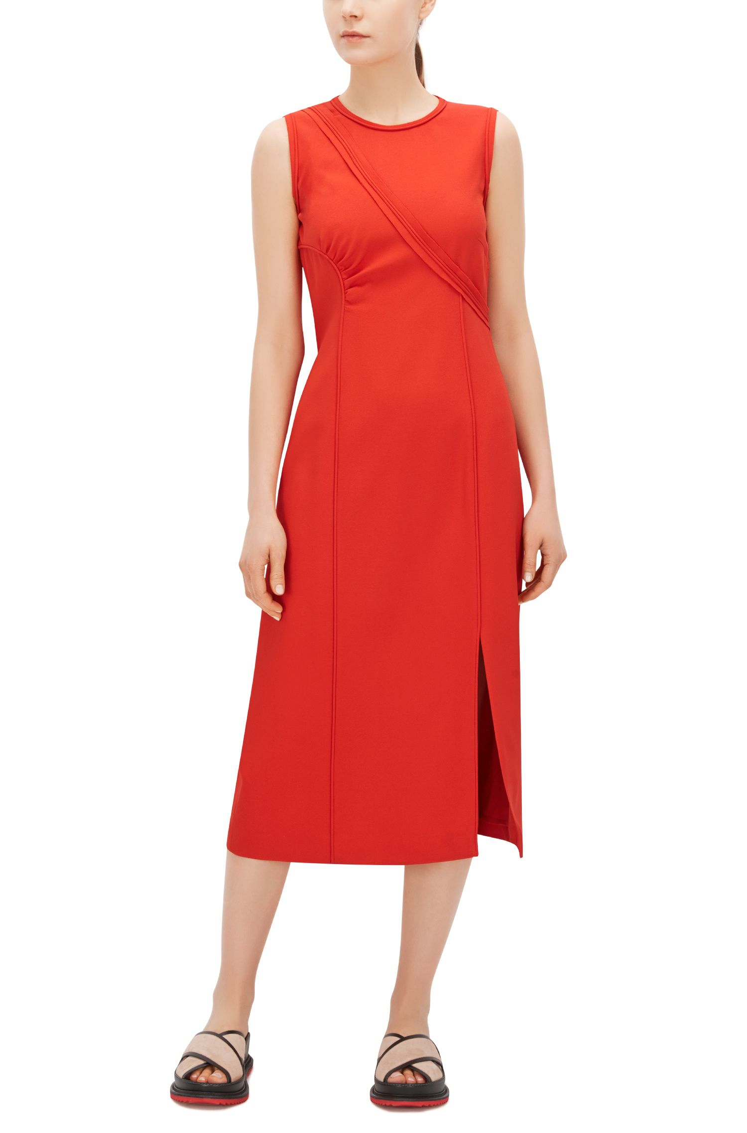 FS Dymeani C | Asymmetrical Bodice Sheath Dress