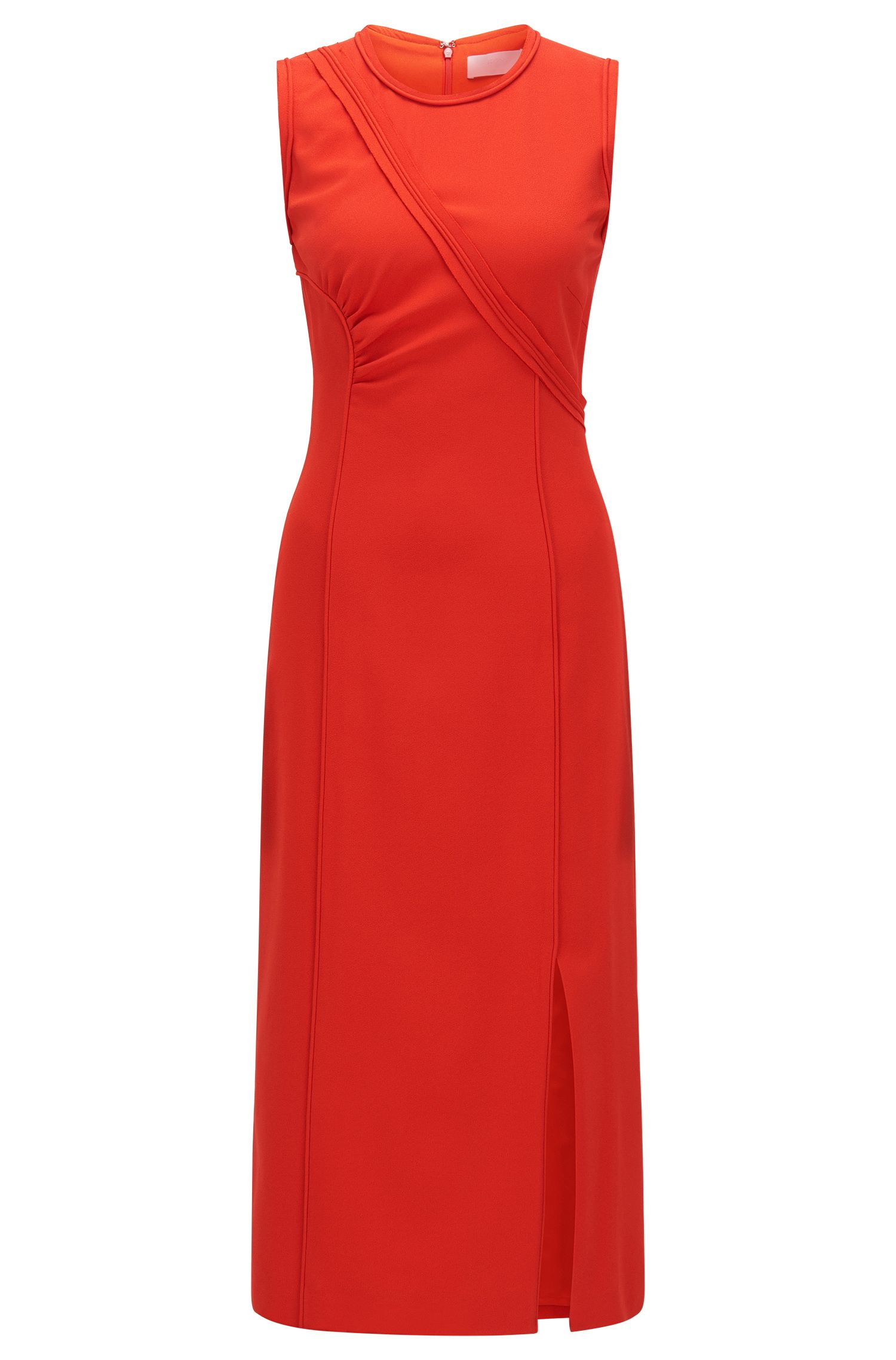 FS Dymeani C | Asymmetrical Bodice Sheath Dress, Red
