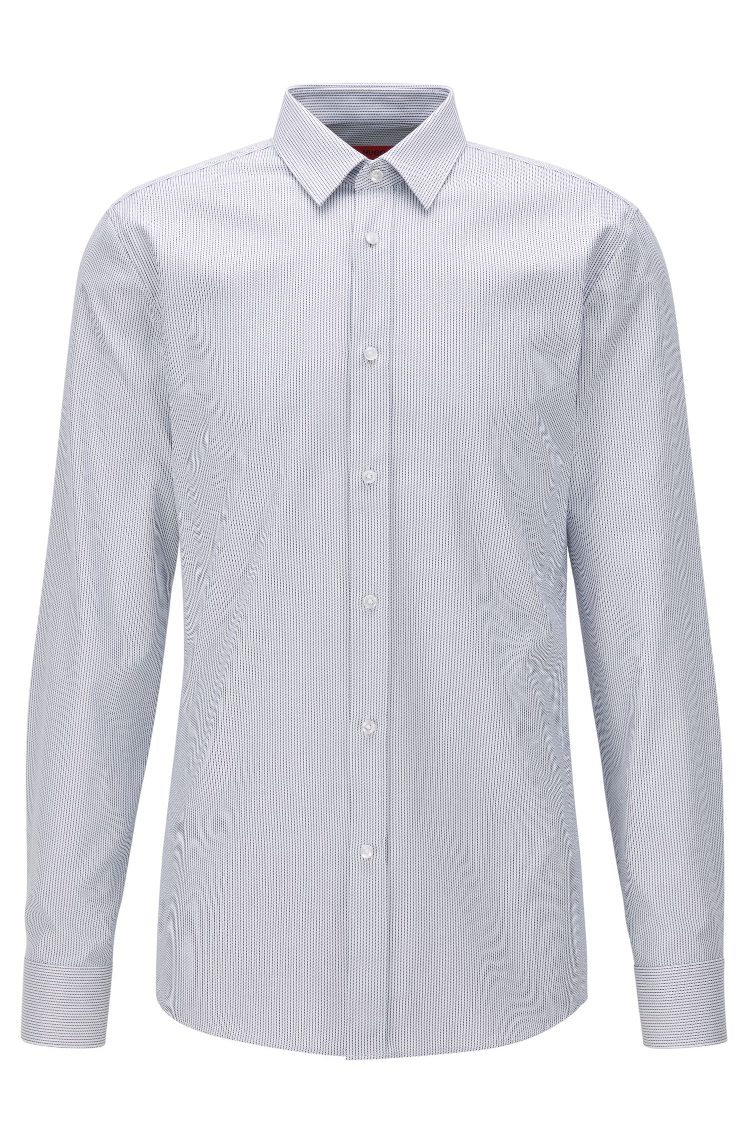 Microdot Cotton Button Down Shirt, Extra Slim Fit | Elisha