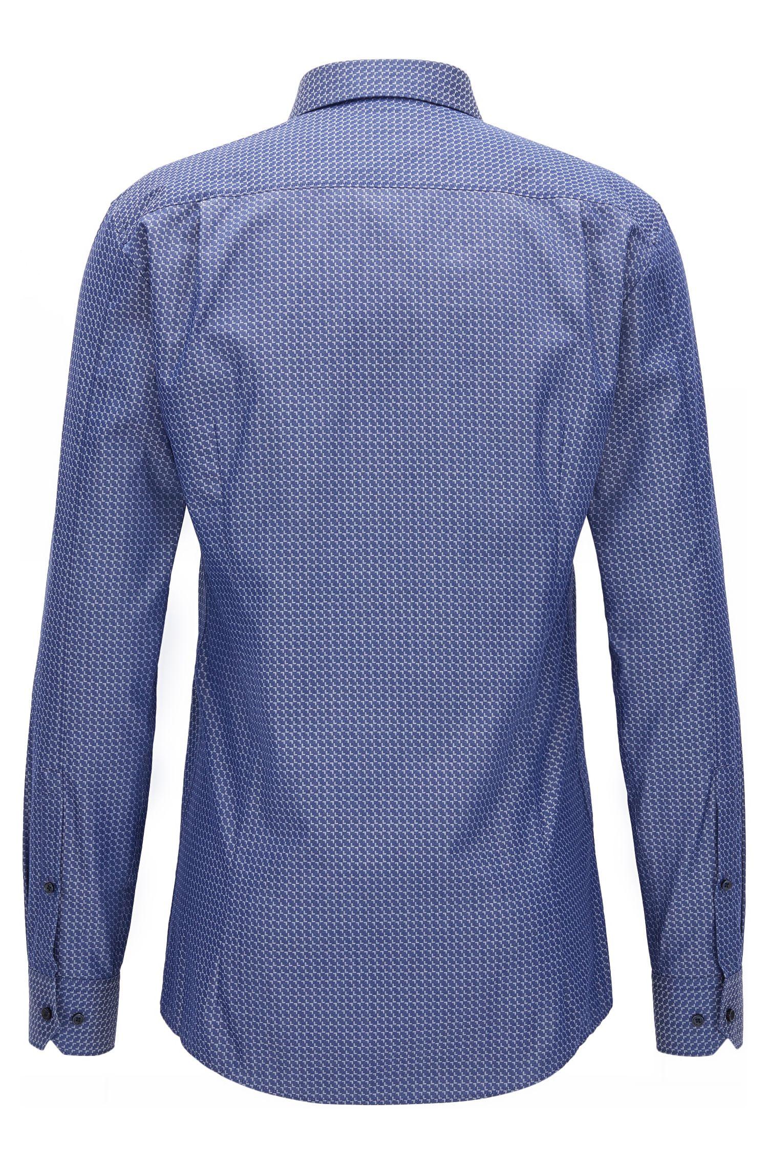 Patterned Cotton Dress Shirt, Extra Slim Fit | Elisha