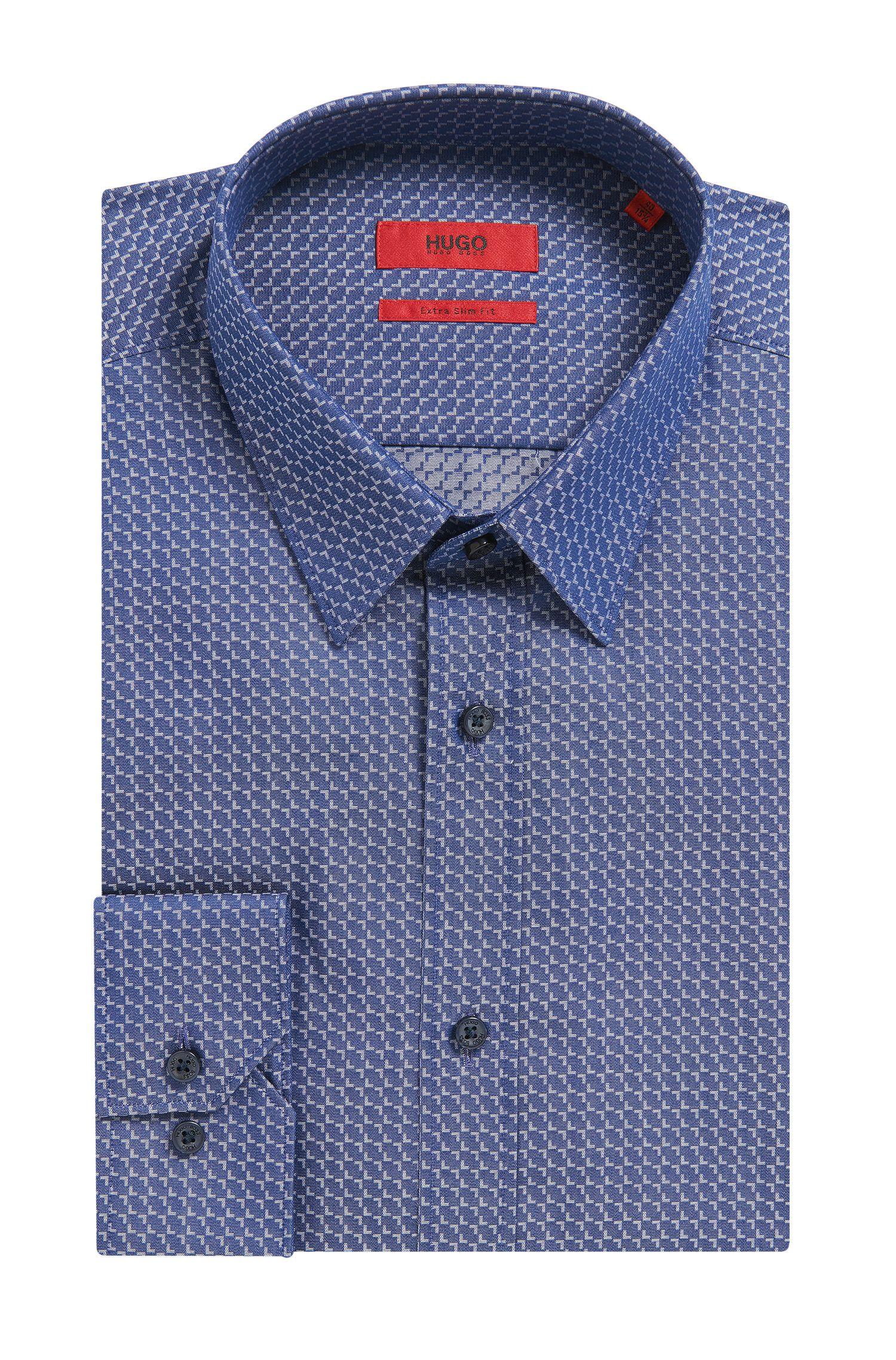 'Elisha' | Extra Slim Fit, Patterned Cotton Dress Shirt