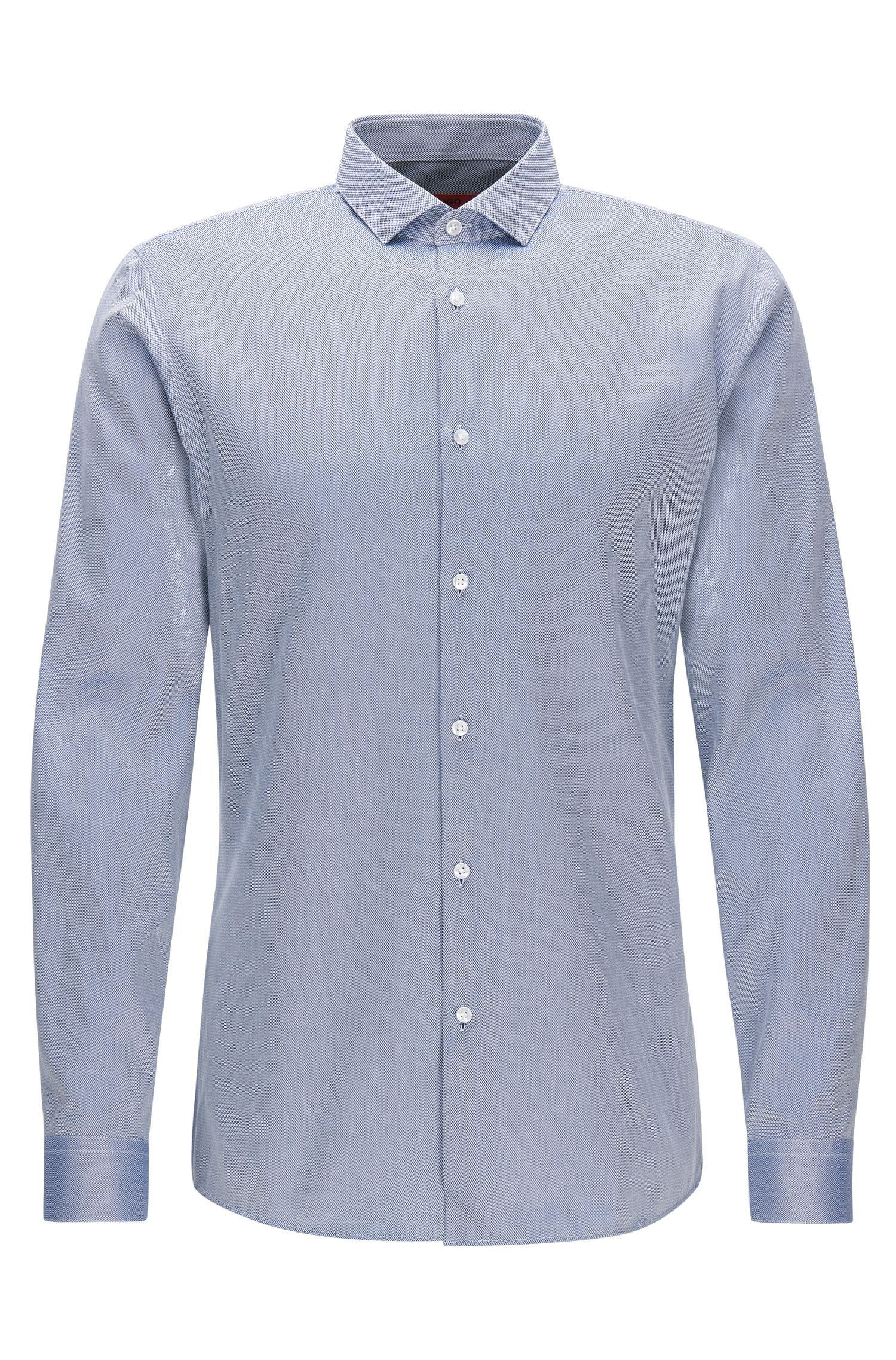 2-Ply Cotton Dress Shirt, Extra Slim Fit | Erondo, Dark Blue