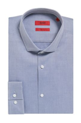 2-Ply Cotton Dress Shirt, Extra Slim Fit | Erondo, Dark Blue
