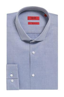 'Erondo' | Extra Slim Fit, 2-Ply Cotton Dress Shirt, Dark Blue