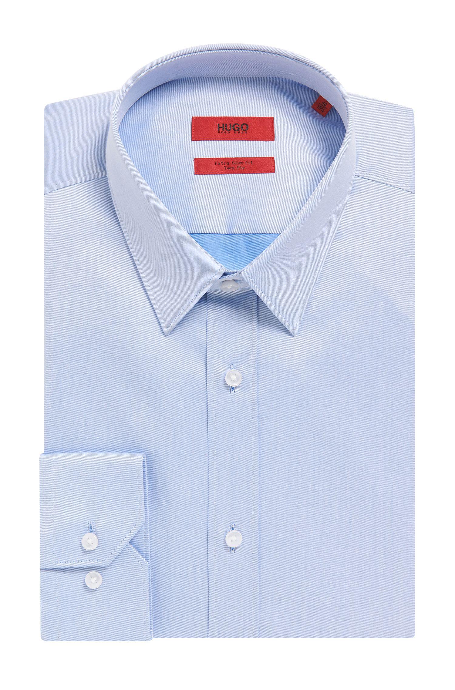 Two-Ply Cotton Dress Shirt, Extra Slim Fit   Elisha