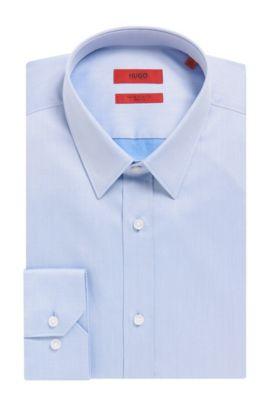 'Elisha' | Extra-Slim Fit, Two-Ply Cotton Dress Shirt, Light Blue