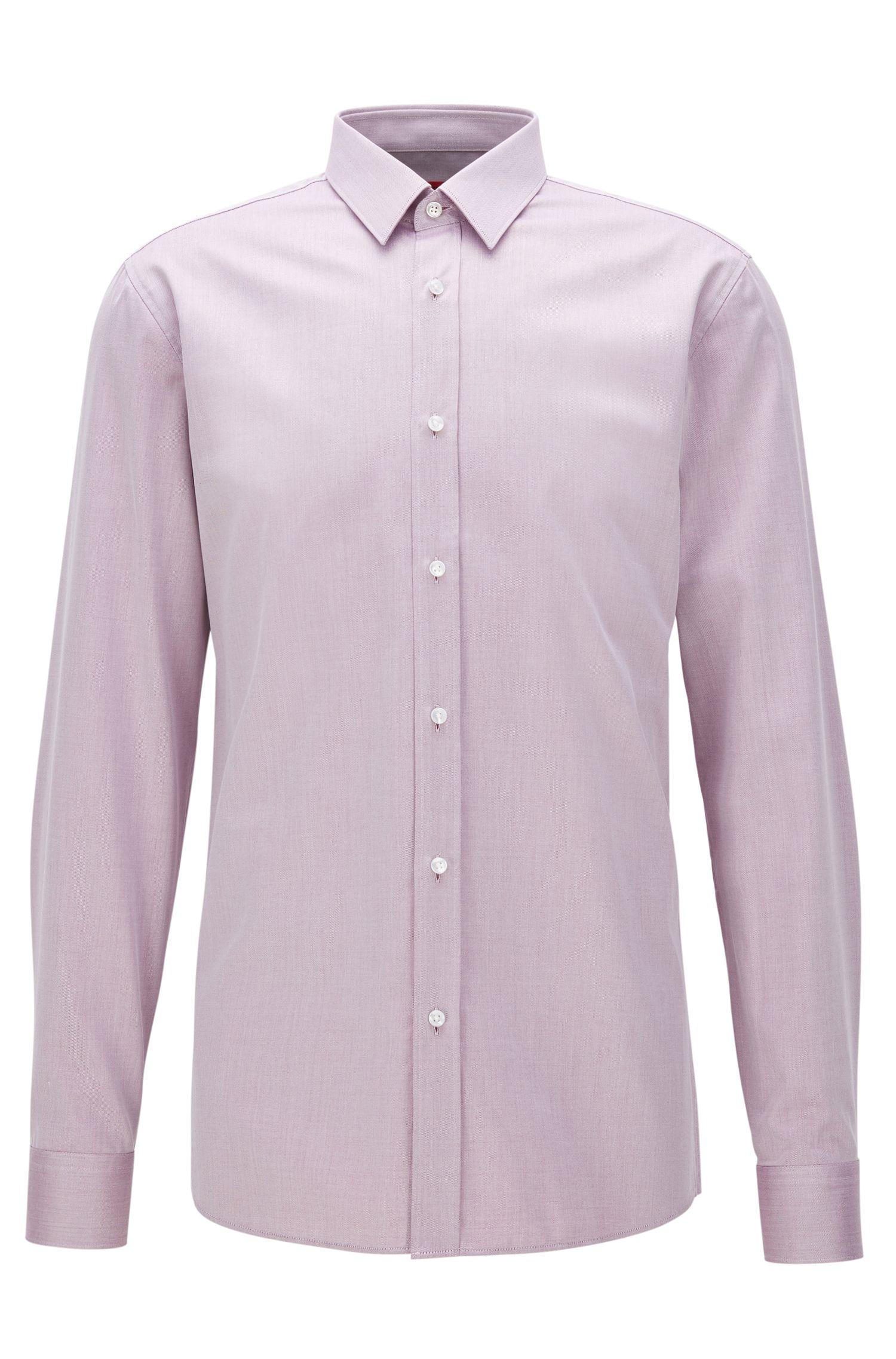 Two-Ply Cotton Dress Shirt, Extra Slim Fit | Elisha