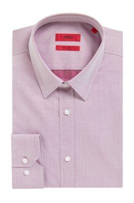 'Elisha' | Extra-Slim Fit, Two-Ply Cotton Dress Shirt, Dark pink