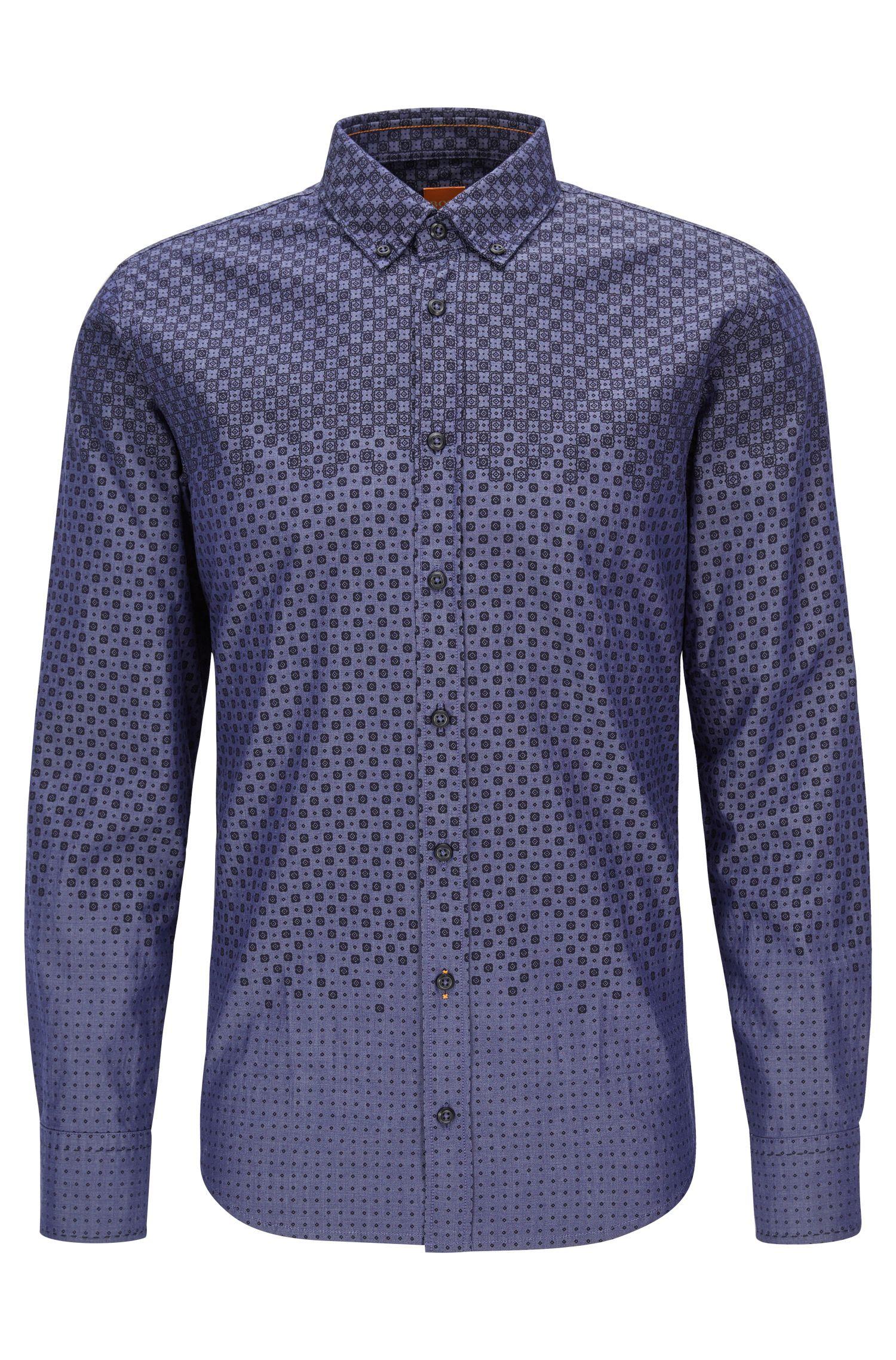 'Epreppy' | Slim Fit, Geometric Cotton Button Down Shirt