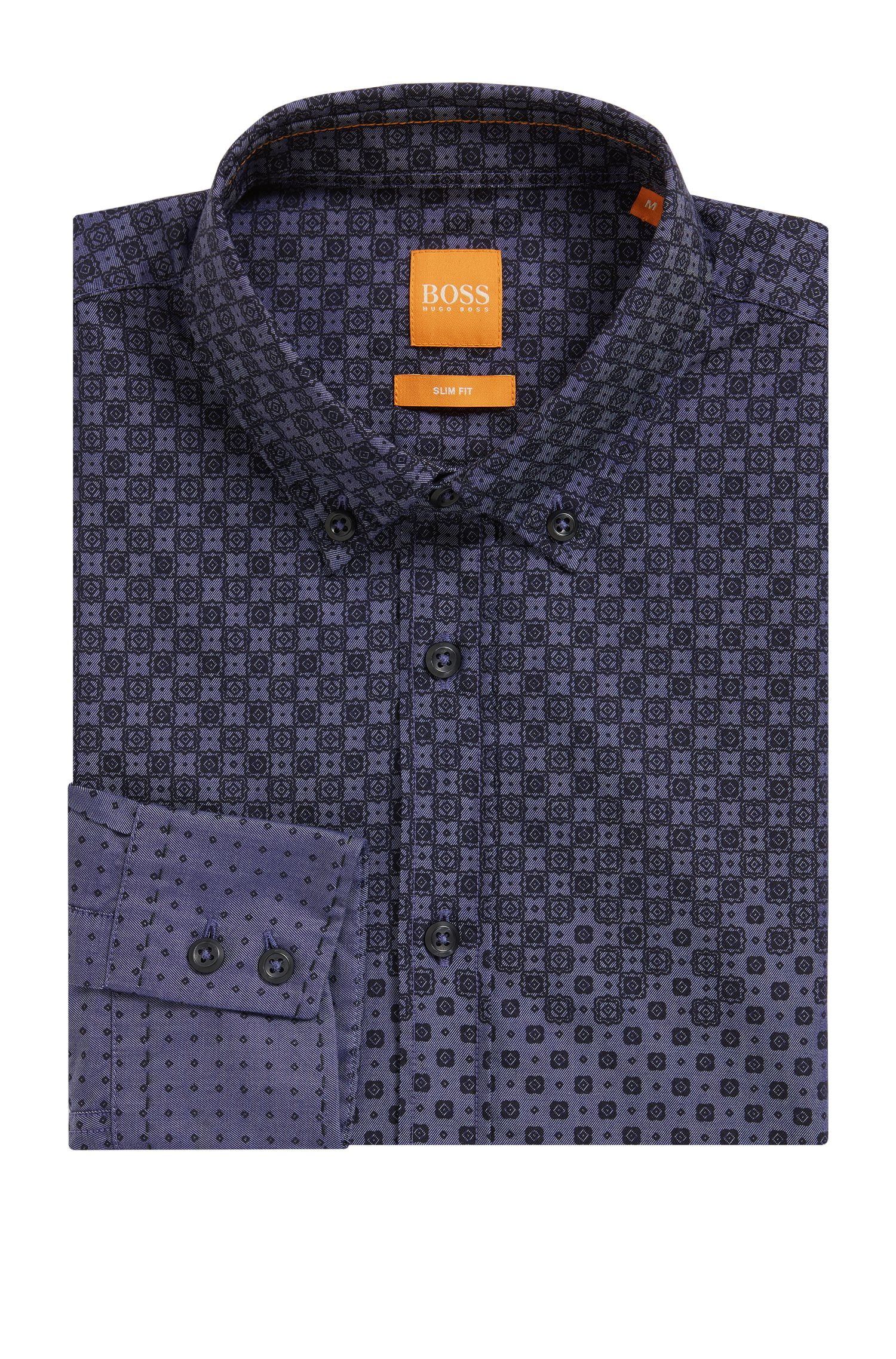 'Epreppy' | Slim Fit, Geometric Cotton Button Down Shirt