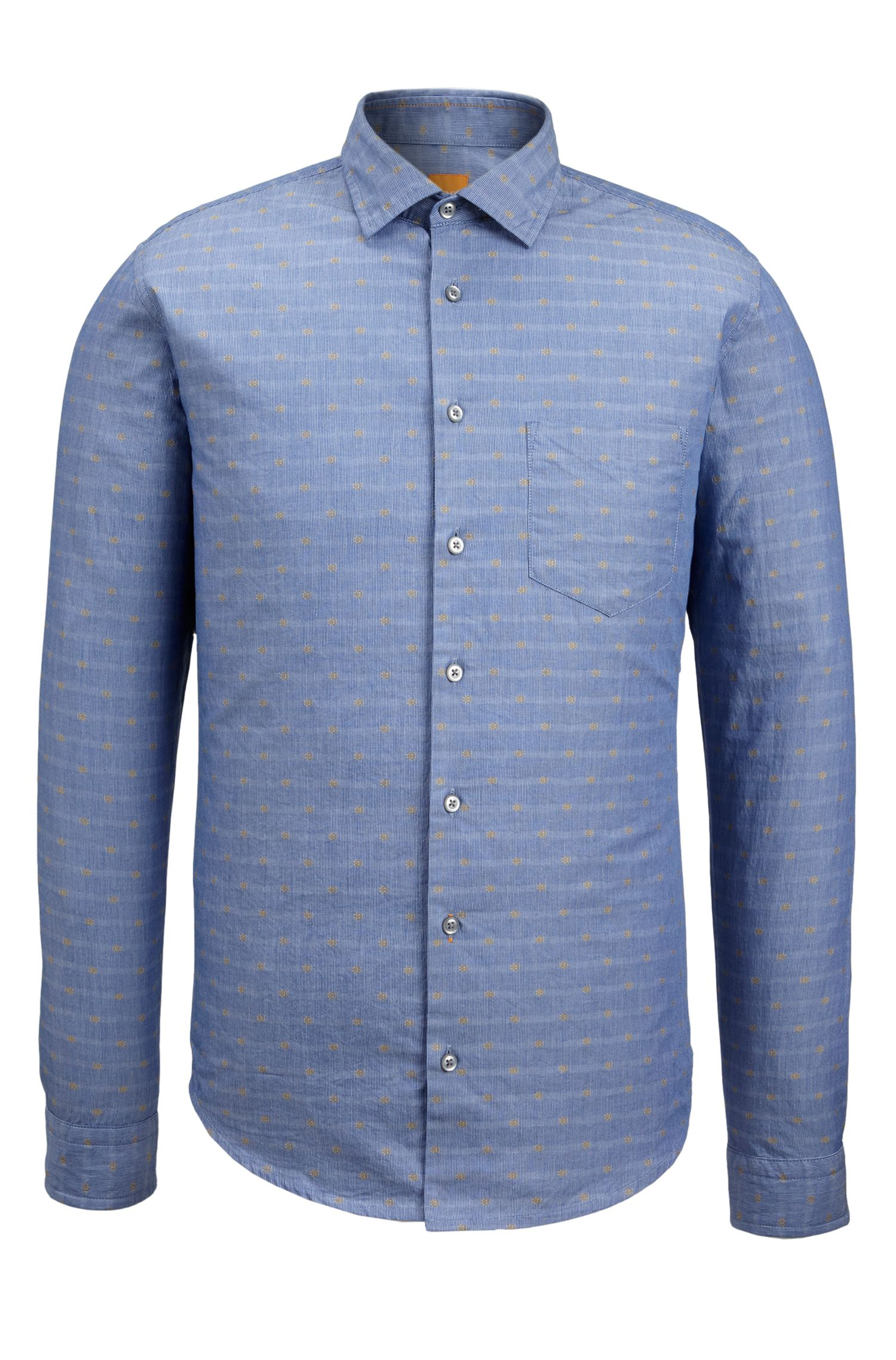 Fil Coupé Cotton Button Down Shirt, Slim Fit | Epop