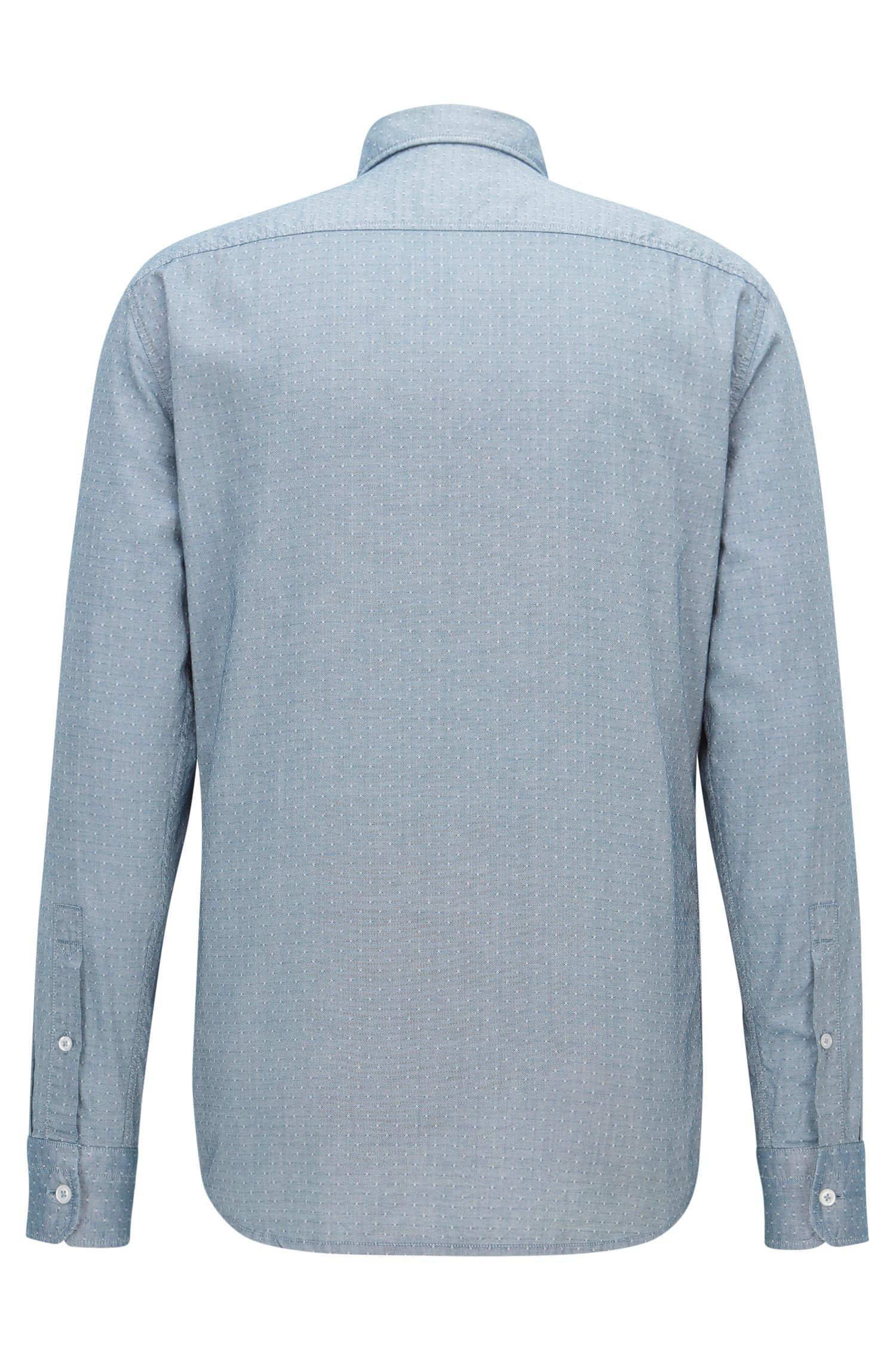 Cotton Button Down Shirt, Regular Fit | Classy, Dark Blue