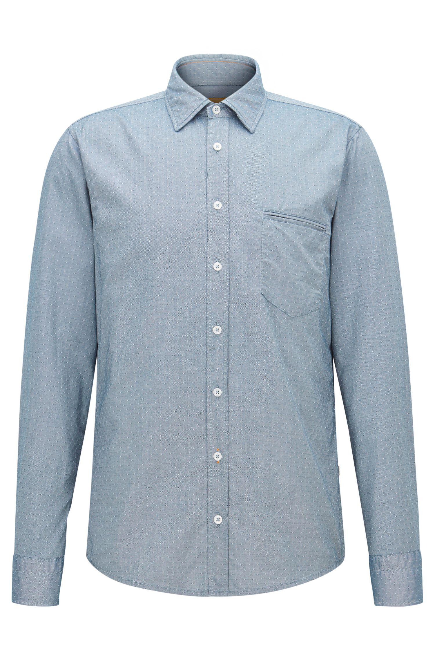 Cotton Button Down Shirt, Regular Fit | Classy
