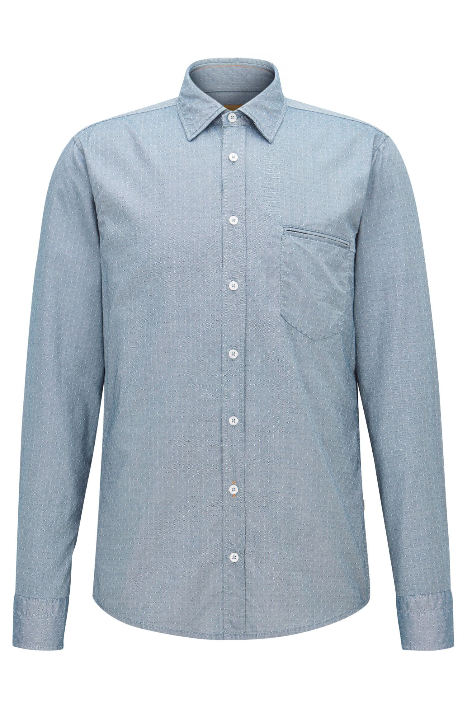 Cotton Button Down Shirt, Regular Fit | Classy