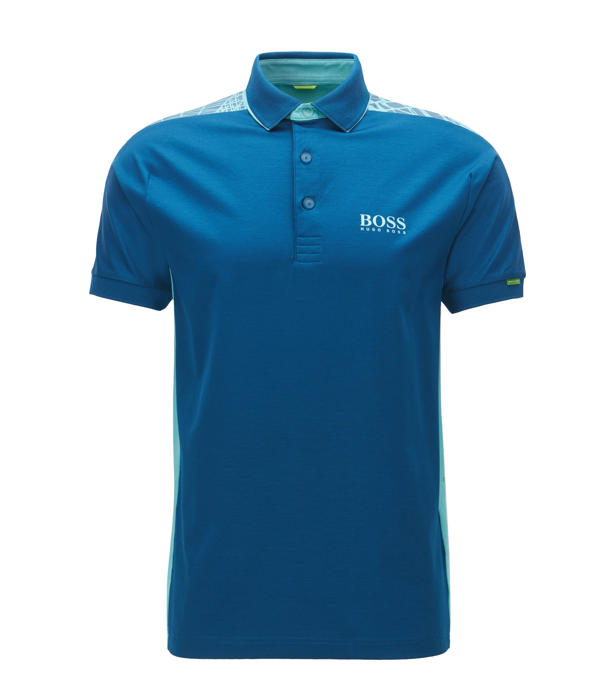 Cotton Polo Shirt, Modern Fit | Paddy, Open Blue