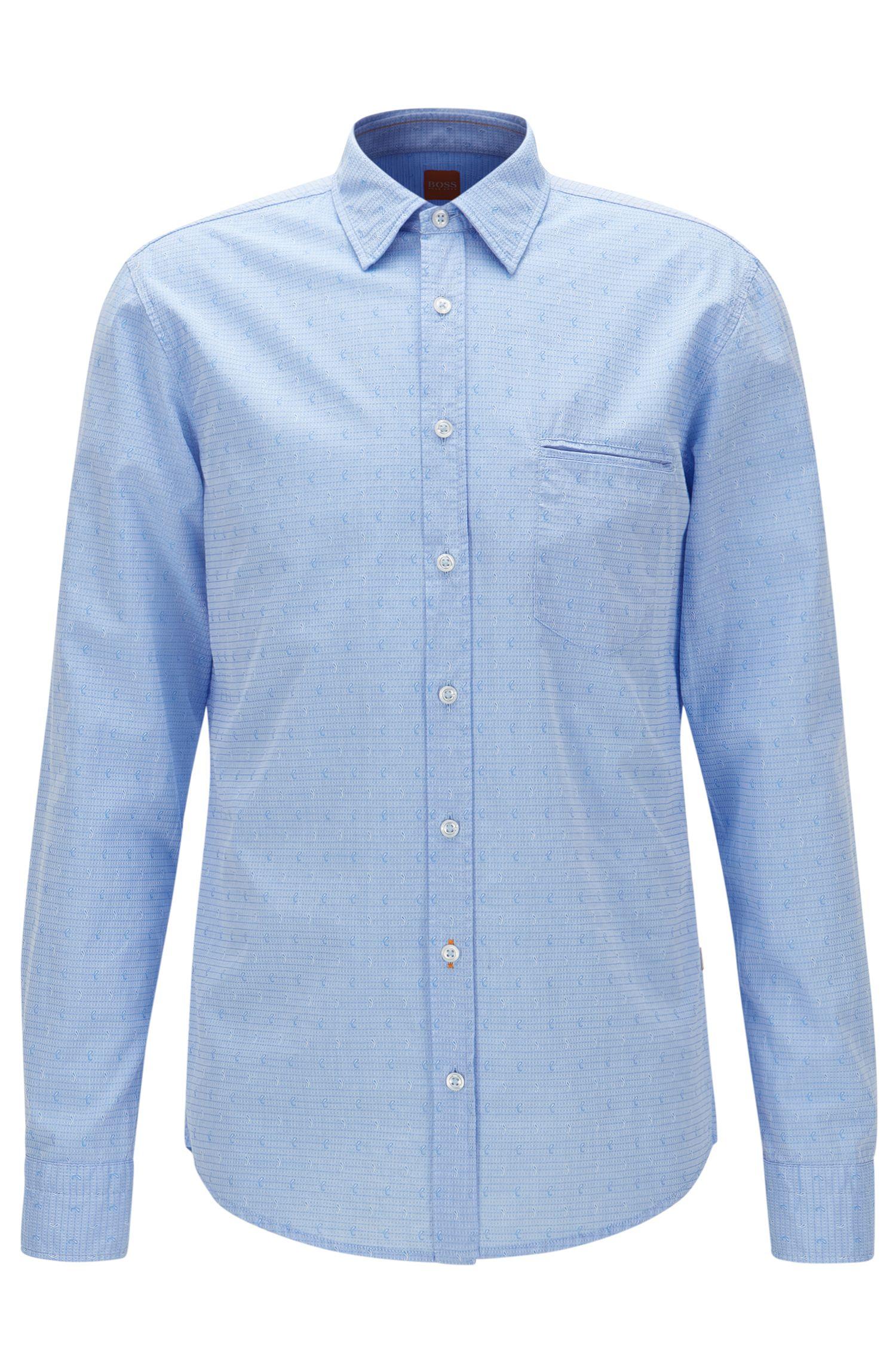 Paisley Cotton Button Down Shirt, Regular Fit | Classy