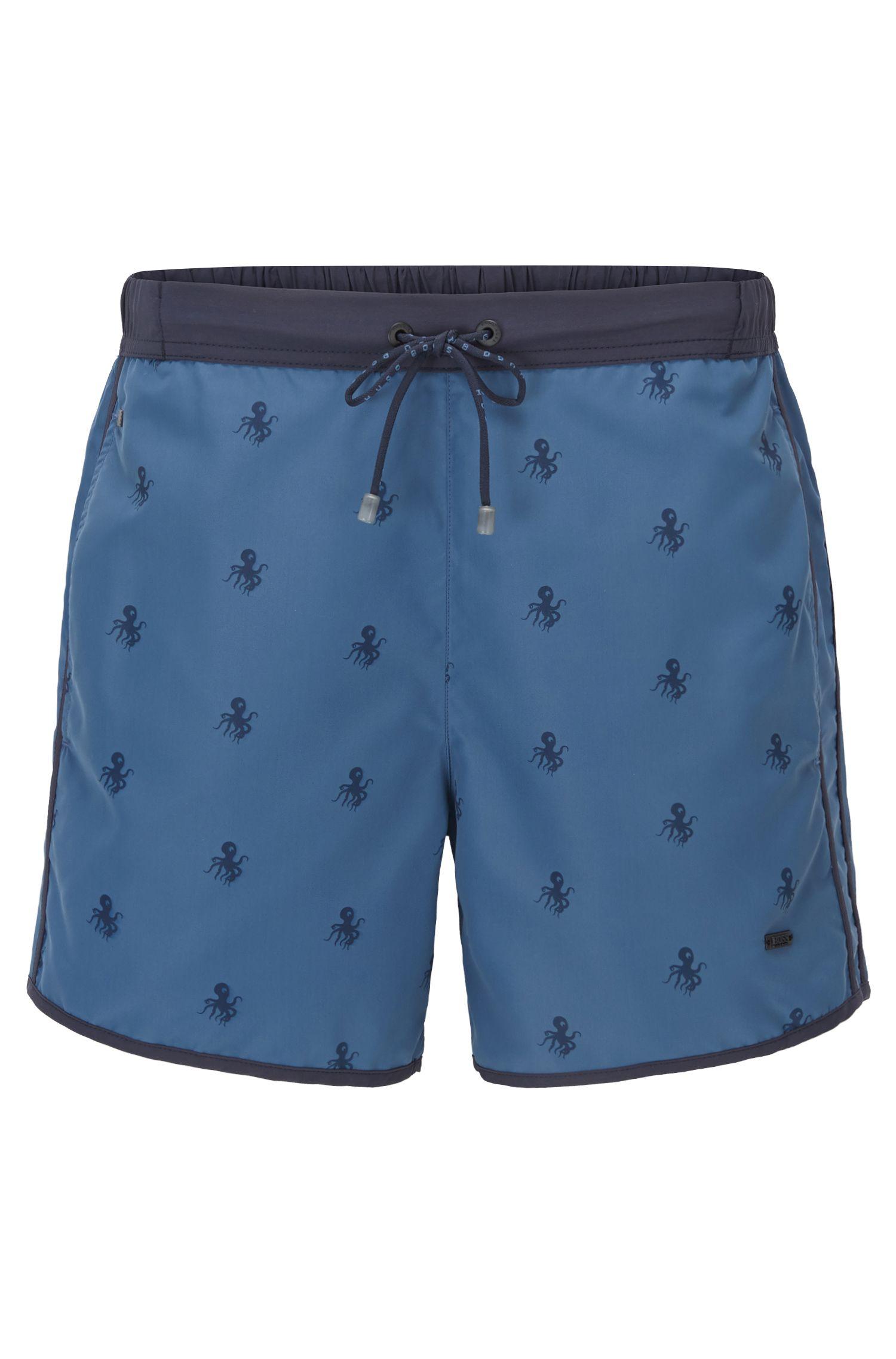 Quick Dry Nylon Embroidered Swim Shorts | White Shark